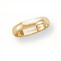 14k Yellow Gold Plain Band 4mm Wide