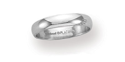 Platinum Plain Band 4mm Wide